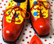 Clown shoes and a red bow tie