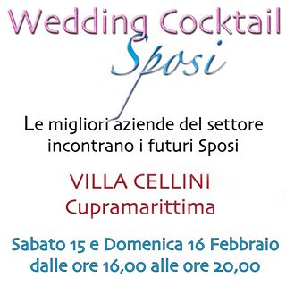 """Wedding Cocktail"" per i futuri sposi!"