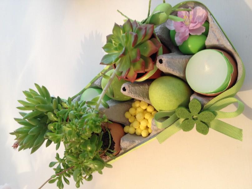 Centrotavola Pasquale…super creativo! Verde grande.