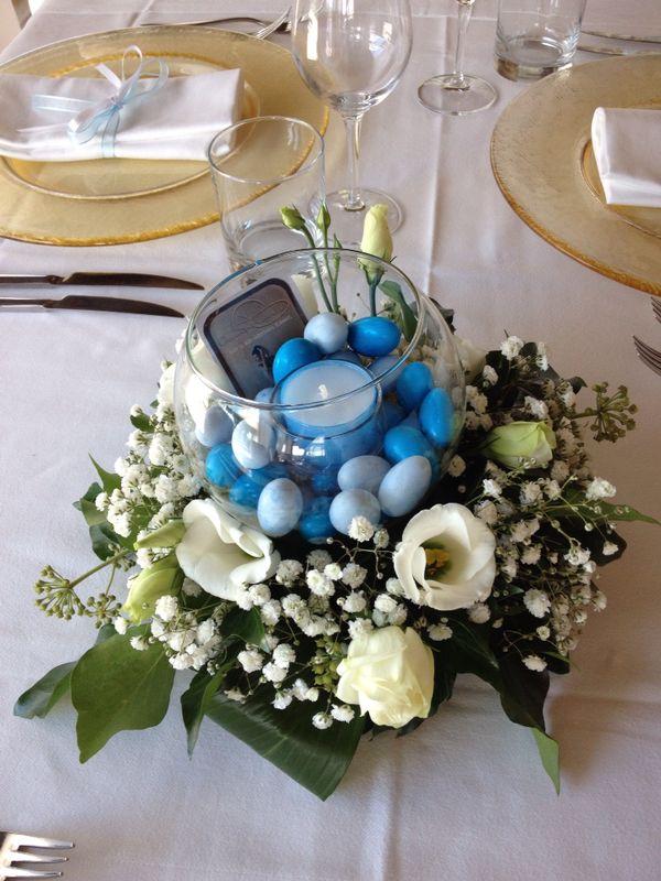 Conosciuto Centrotavola con confetti, candela e fiori! | Aranciaecannella  VB61