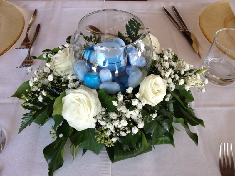 Centrotavola Matrimonio Azzurro : Cresime aranciaecannella wedding planner and events