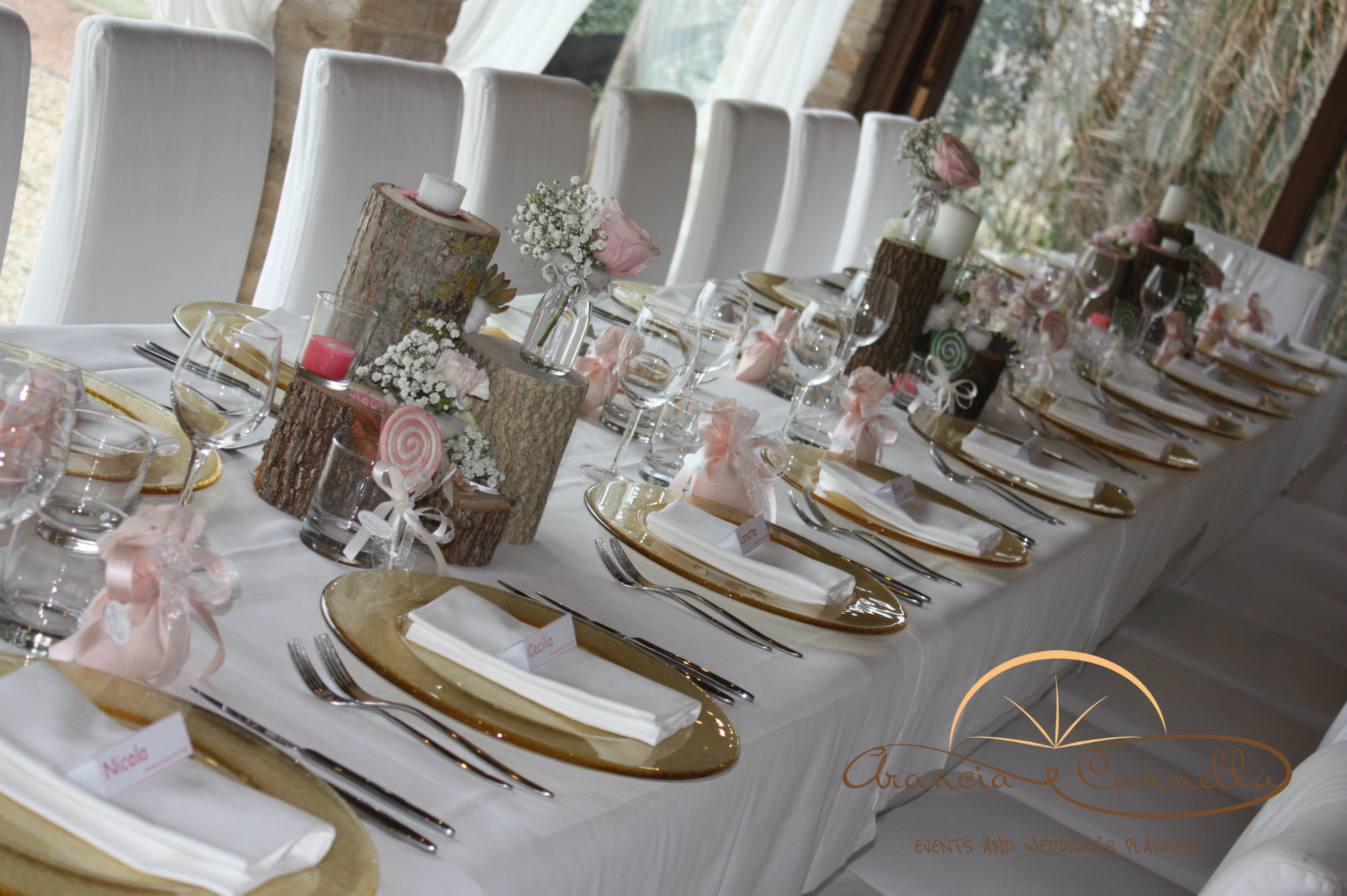 Decorare Un Tavolo Per Battesimo : Mise en place aranciaecannella wedding planner and events