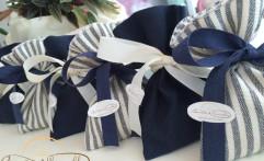 Sacchetti blu e bianchi per una cresima speciale!