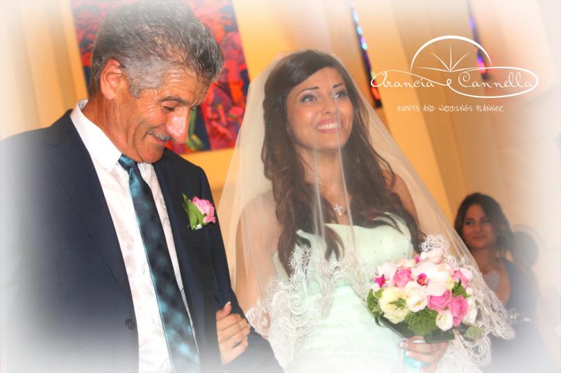 L'arrivo della sposa..incantevole!