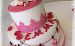 Una torta speciale per il battesimo di Emma.