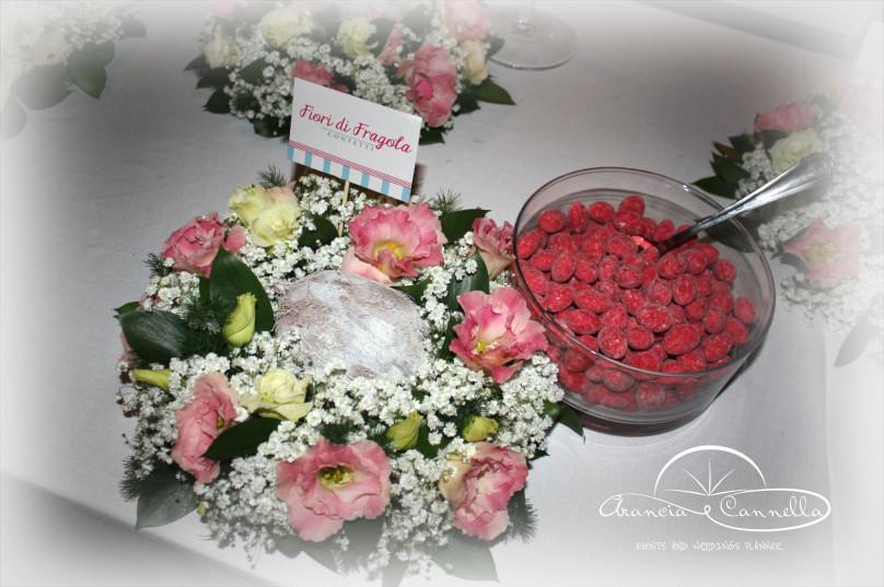 Fior di fragola e fiori coordinati.
